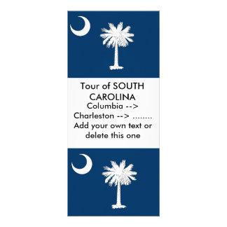 Rack Card with Flag of South Carolina, U.S.A.