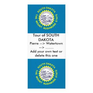 Rack Card with Flag of South Dakota, U.S.A.