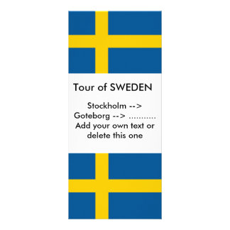 Rack Card with Flag of Sweden