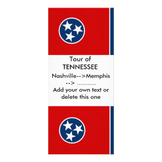 Rack Card with Flag of Tennessee, U.S.A.