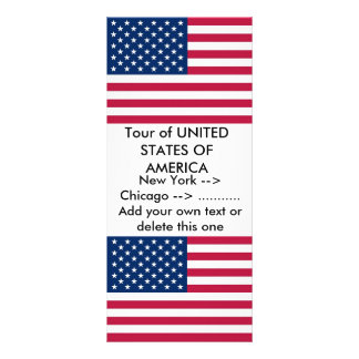 Rack Card with Flag of U.S.A.