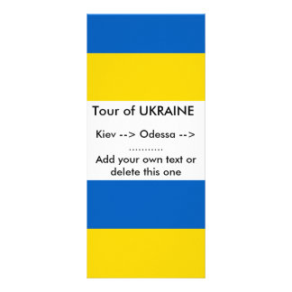 Rack Card with Flag of Ukraine