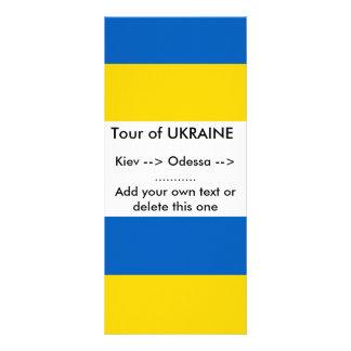 Rack Card with Flag of Ukraine