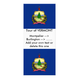 Rack Card with Flag of Vermont, U.S.A.