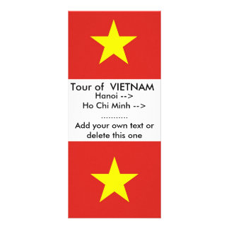 Rack Card with Flag of Vietnam