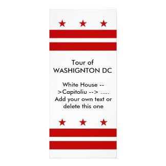 Rack Card with Flag of Washington DC, U.S.A.