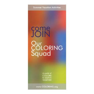 Rack card with joyful colors -