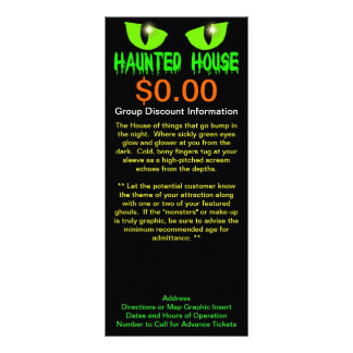 """Rack Cards - """"Haunted House"""" - Green Lettering"""