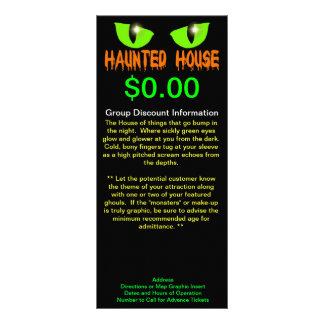 "Rack Cards - ""Haunted House"" - Orange Lettering"