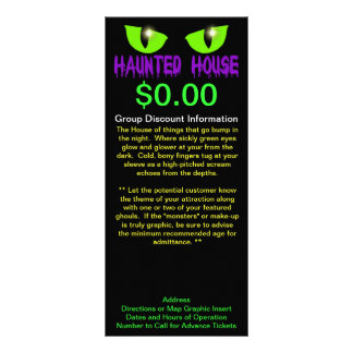 """Rack Cards - """"Haunted House"""" - Purple Lettering"""