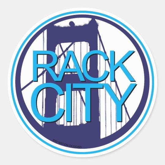 Rack City Classic Round Sticker