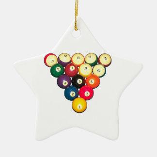 Rack 'Em! Ceramic Ornament