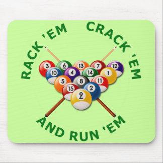Rack 'em Crack 'em and Run 'em Mouse Pad