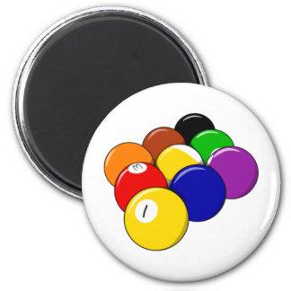 Rack 'em!! Pool Ball 2 Inch Round Magnet