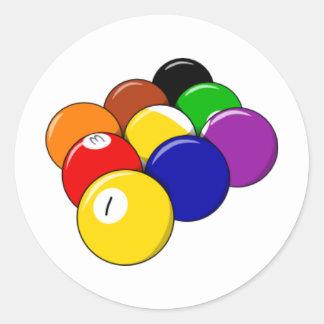 Rack 'em!! Pool Ball Classic Round Sticker