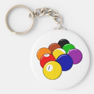 Rack 'em!! Pool Ball Keychain