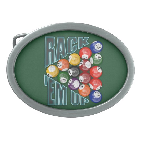 Rack Em Up Belt Buckle