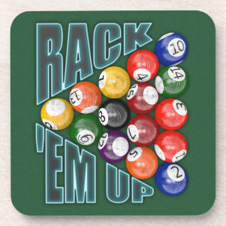 Rack Em Up Beverage Coaster