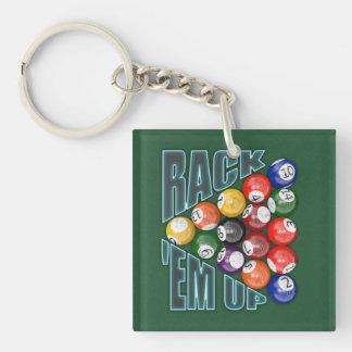 Rack Em Up Square Acrylic Keychain