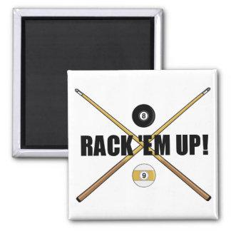 Rack 'Em Up magnet