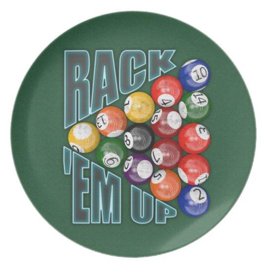 Rack Em Up Melamine Plate