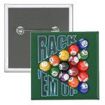 Rack Em Up Pinback Button