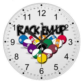 Rack Em Up Pool Clock