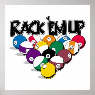 Rack Em Up Pool Poster