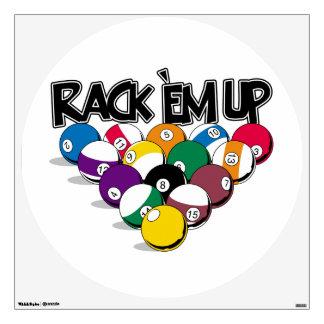 Rack Em Up Pool Wall Sticker