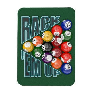 Rack Em Up Rectangular Photo Magnet
