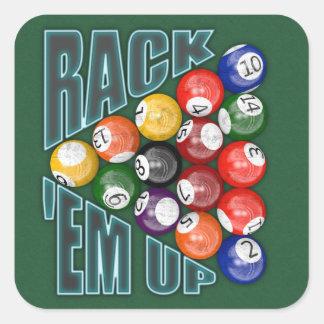 Rack Em Up Square Sticker