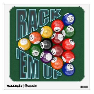 Rack Em Up Wall Decal