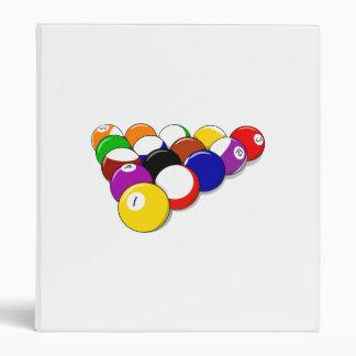 Rack of Pool Balls 3 Ring Binder