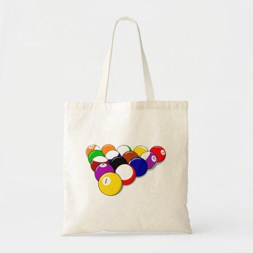 Rack of Pool Balls Tote Bag