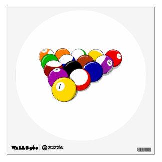 Rack of Pool Balls Wall Sticker
