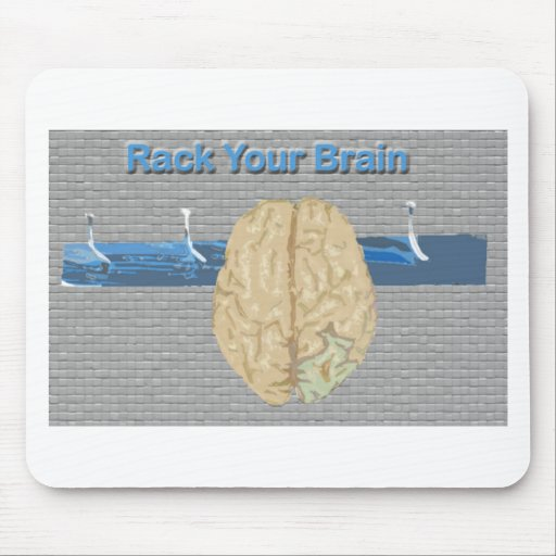 Rack Your Brain Mouse Pad