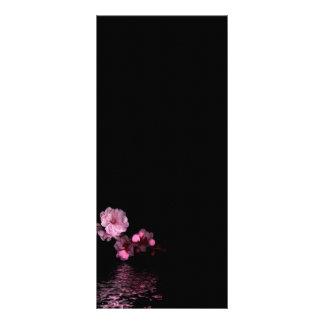 rackcard de la flor de cerezo diseño de tarjeta publicitaria