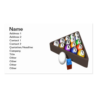 Racked Balls 2 Double-Sided Standard Business Cards (Pack Of 100)
