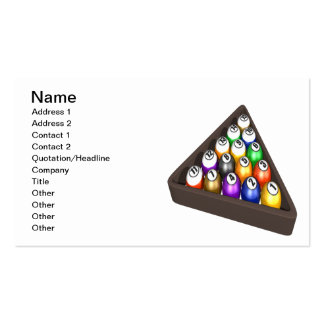 Racked Balls 3 Double-Sided Standard Business Cards (Pack Of 100)