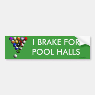 Racked Billiard Balls Bumper Sticker