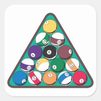 Racked Billiard Balls Square Sticker