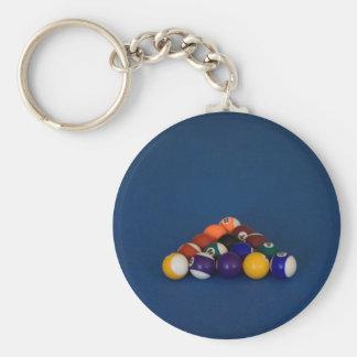 Racked Pool Balls Key Chains