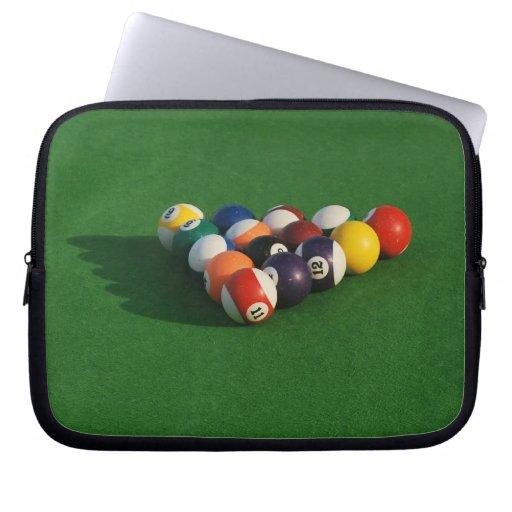 Racked Pool Balls Laptop Sleeve
