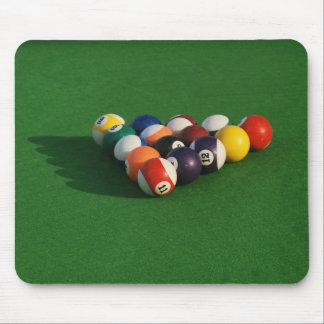 Racked Pool Balls Mousepad