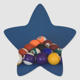 Racked Pool Balls Star Sticker
