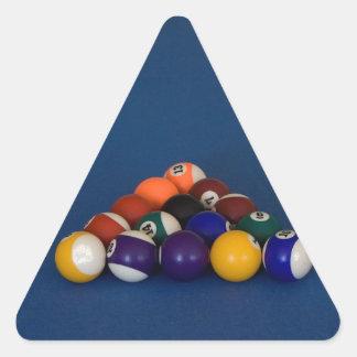 Racked Pool Balls Triangle Sticker