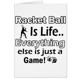 Racket Ball gift items Card