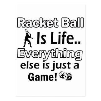 Racket Ball gift items Postcard