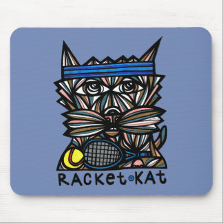"""Racket Kat"" Mousepad"