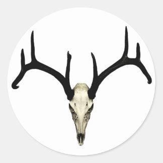 Rackgrafix Buck Skull Sticker, Round